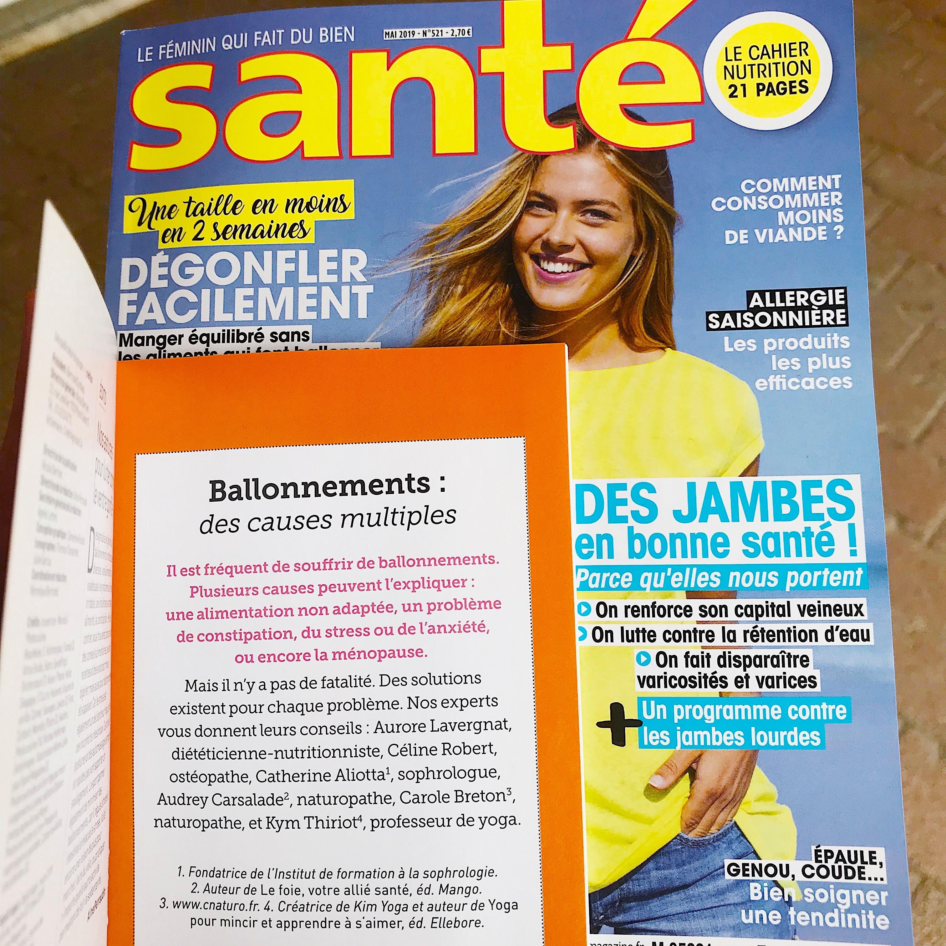 Magazine Apprendre La Photo santé magazine - ballonnements, des causes multiples - avril